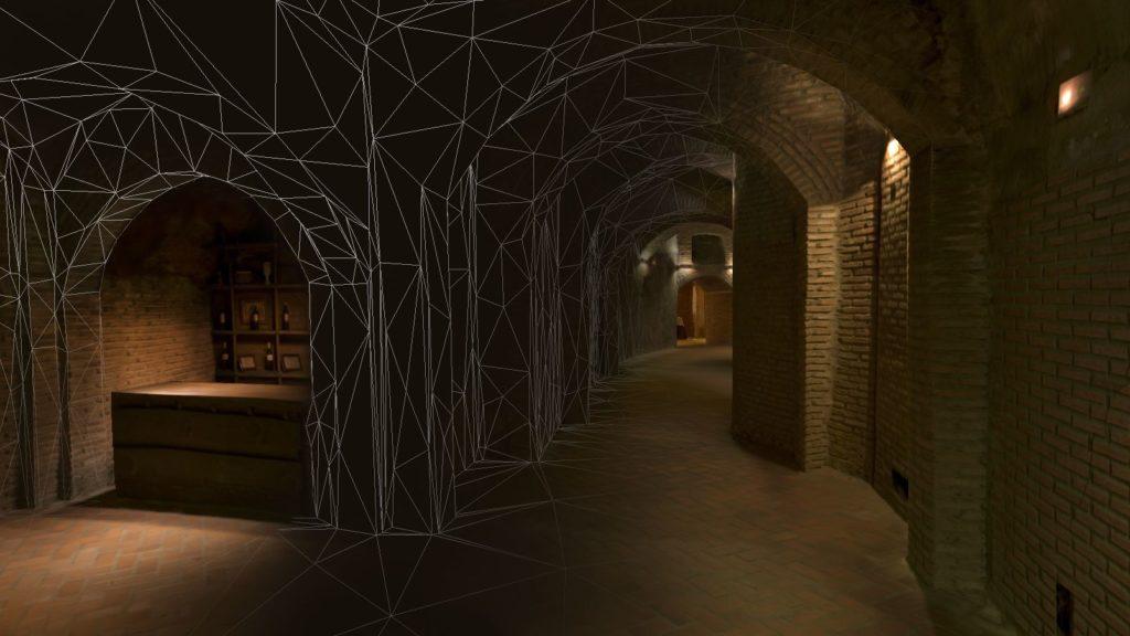 Reconstrucción 3D de espacios habitacionales. Bodega subterránea Yllera
