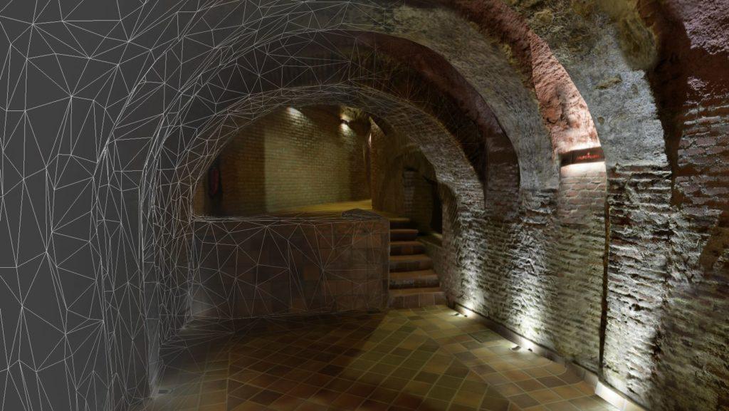 Reconstrucción 3D de espacios. Sala de catas Yllera