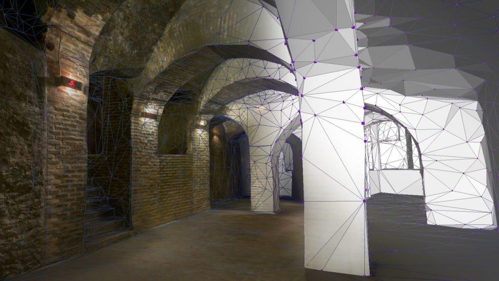 Reconstrucción 3D de espacios habitacionales. Bodega subterránea